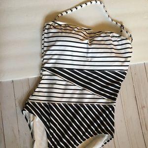 Anne Cole SZ 14 Swimsuit Black white NWOT